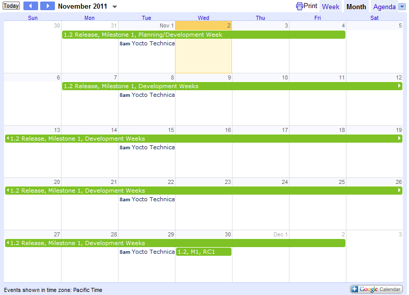 TODO: Find a way to embed the actual calendar in this page using the ...